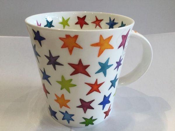 Porzellan Tassen (bunte Sterne)