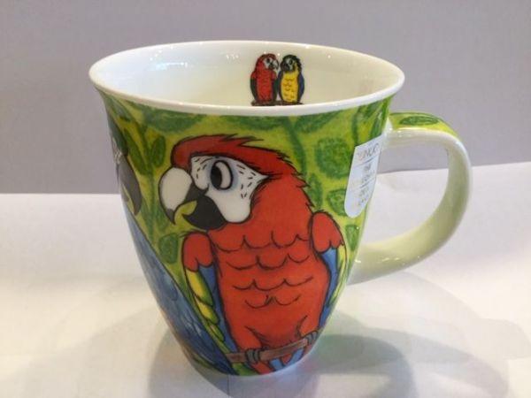 Porzellan Tassen Modell Nevis (Papagei)