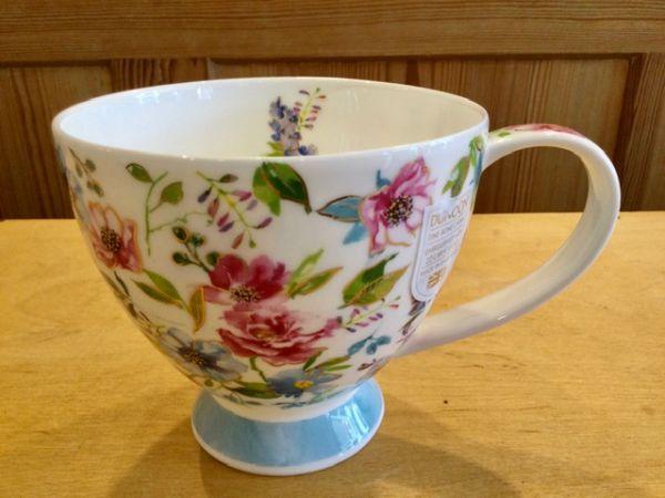 Porzellan Tasse Modell Syke Fleurs Rose by Harrison Ripley blau