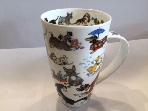 Porzellan Tasse Modell Henkley (Hunde)