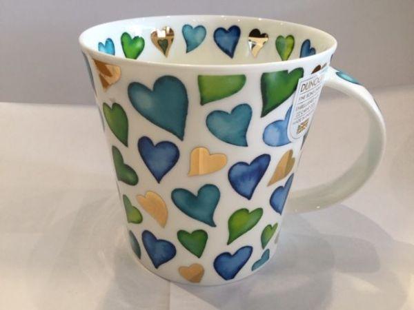 Porzellan Tassen (Herz : Grün)