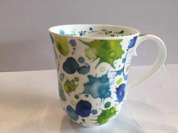 Porzellan Tasse Beamer Modell Whoops (grün blaue Farbflecken)
