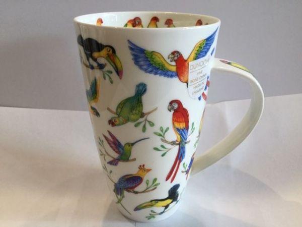 Porzellan Tasse Modell Henkley (Papageien)