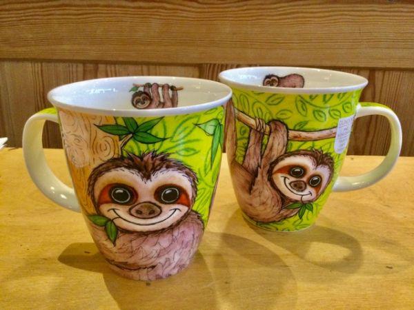 Porzellan Tassen Modell Nevis Swingers Sloth by Jane Brookshaw