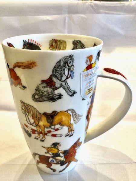 Porzellan Tasse Modell Henkley (Pferde)