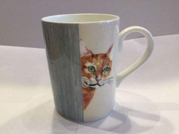 Porzellan Becher (CAT THROUGH THE DOOR LUCY MUG 1)
