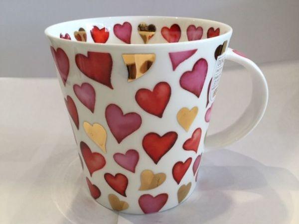 Porzellan Tassen (Herz : Rot)