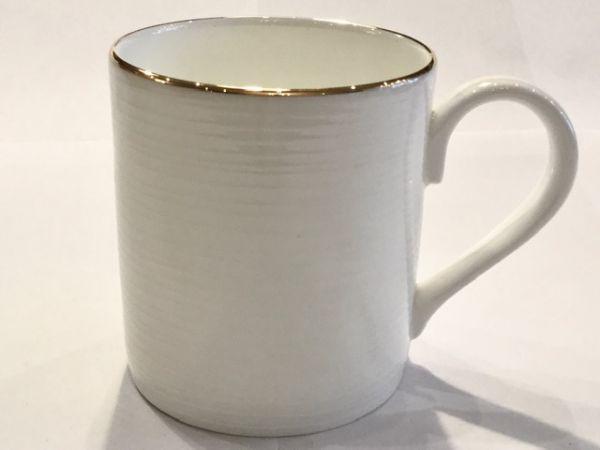 Tasse mit Goldrand (rillen)