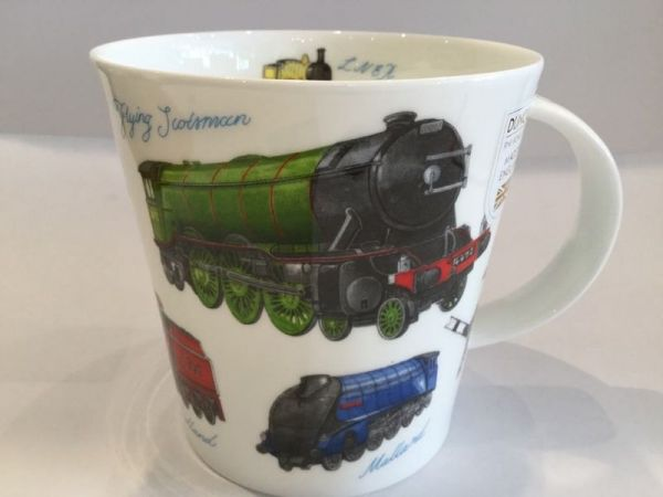 Porzellan Tasse (Züge)