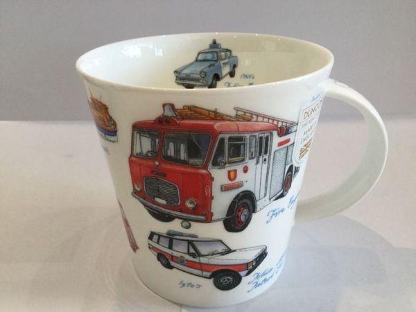 Porzellan Tasse (altes Feuerwehrauto)