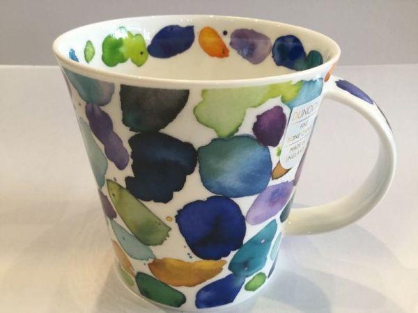 Porzellan Tasse (bunte Farbkleckse)