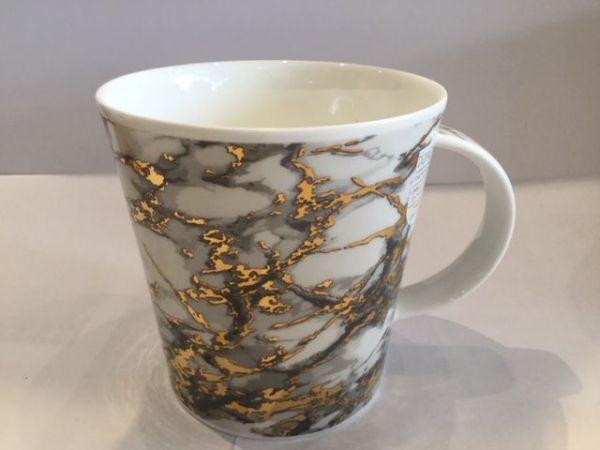 Porzellan Tassen (Marmor Gold Grau)