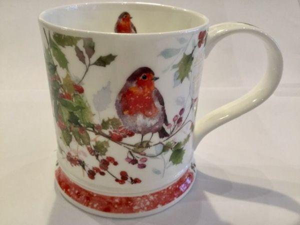 Dunoon Tasse Christmas Robin Ilex