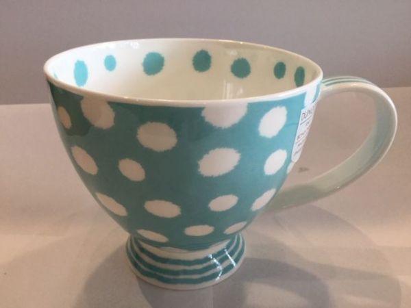 Porzellan Tasse Modell Syke (blau weiß bepunktet)